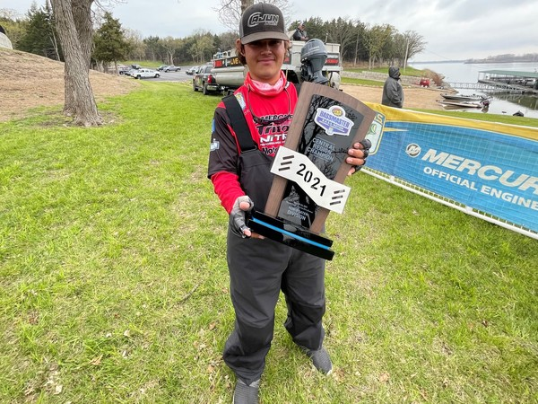 Hunter Neuville is only 18, but he already is a champion bass fisherman. (photo by Brent Frazee)