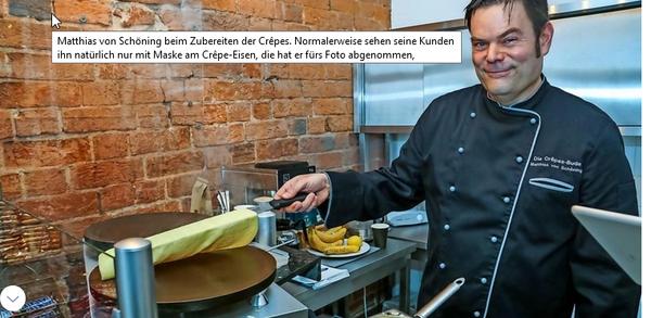 """Wismarer eröffnet trotz Corona Crêpe-Bude: """"Das ist nichts für die Diät"""""""