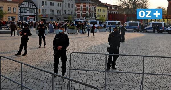 Ribnitz: So lief die Corona-Protest-Kundgebung am Mittwoch