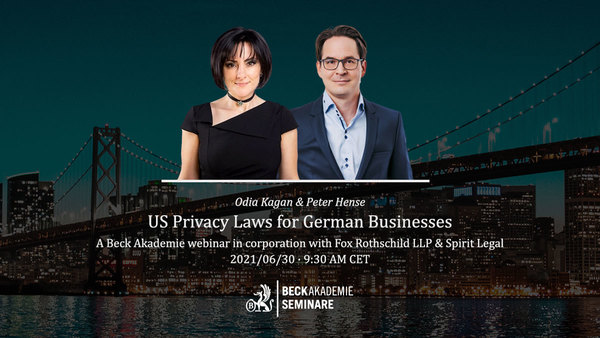 Announcement: Live-Webinar on US Privacy Laws for German Businesses on June 30th 2021