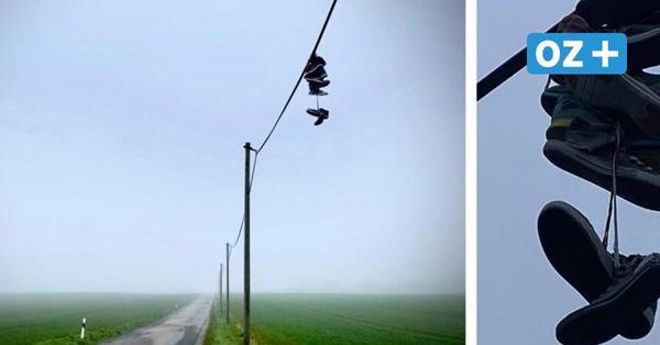 Das Rätsel um die hängenden Schuhe in Hoben: Das steckt dahinter