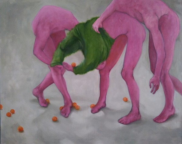 """Paulina Litwin, a painting from """"Body movements"""" series"""