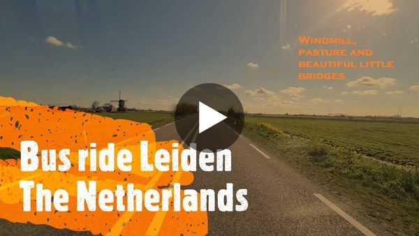 GEMEENTE - Met bus 56 van Leiden naar Leimuiden (video)