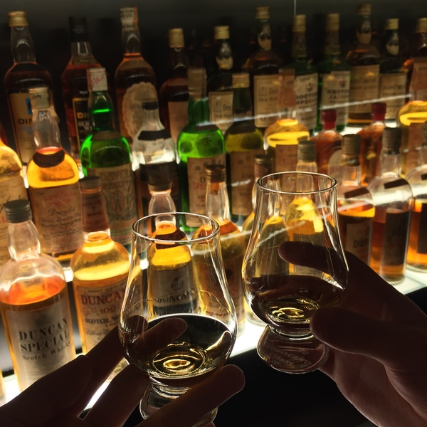 a wee dram at The Scotch Whisky Experience in Edinburgh