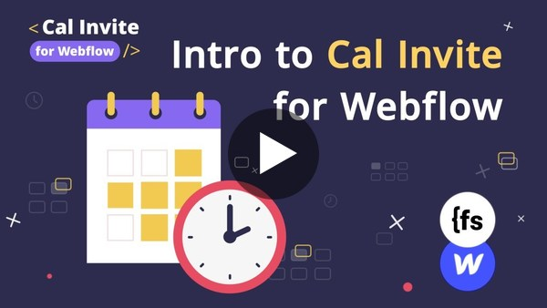 Get Started   Cal Invite for Webflow