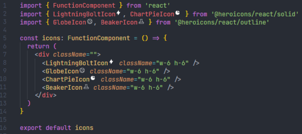VSCode Heroicons Preview