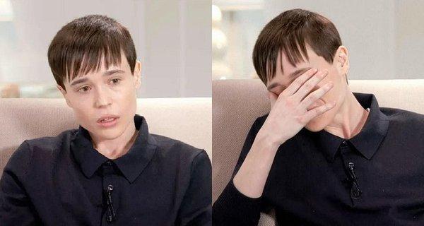 Elliot Page breaks down in tears during Oprah interview