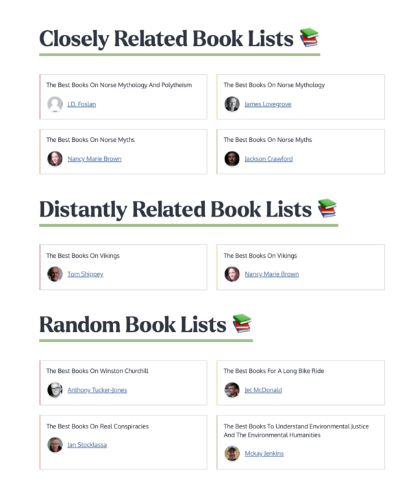 Upcoming Related Book List Feature