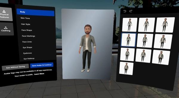 The new Oculus avatar editor. [Credit: Oculus]