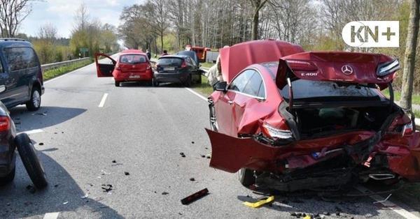 Unfall auf der B 76 bei Gammelby: Schwangere Frau schwer verletzt