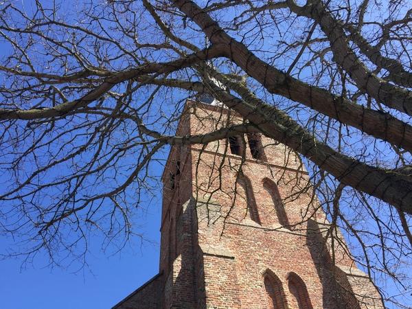 De Johanneskerk in Domburg, geliefd (studie-)onderwerp van Piet Mondriaan.