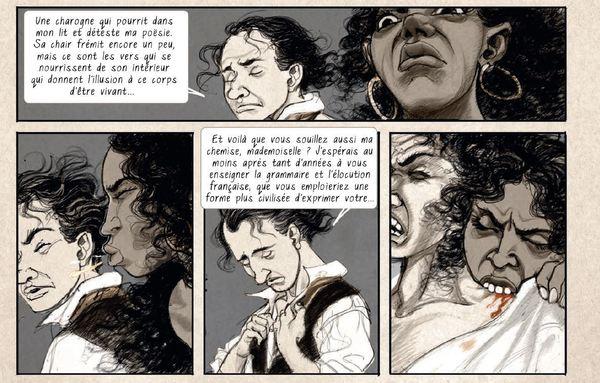 Baudelaire et sa maîtresse Jeanne Duval vus par Yslaire.