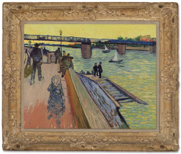 'Le pont de Trinquetaille' - olieverf op doek: Vincent van Gogh