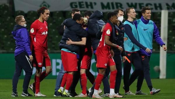 Heißer Tanz, viele Emotionen: RB Leipzig zieht trotz turbulenter Woche ins DFB-Pokal-Finale ein - Sportbuzzer.de