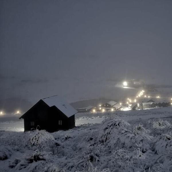 Snowfall in Lesotho