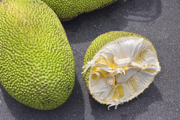 Jackfruit: buiten- en binnenkant