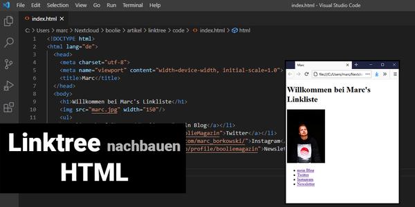 Linktree nachbauen (HTML)