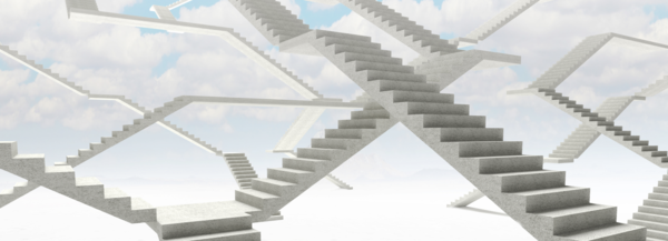 Research progress as intertwined staircases (Credit: Marti Hearst)
