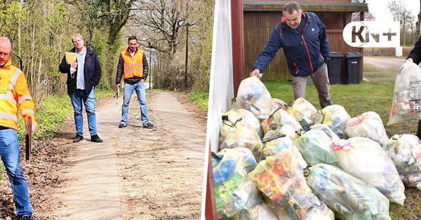 Müllabfuhr in Fahrenhorst: Ein Spurplattenweg, viele gelbe Säcke und jede Menge Ärger