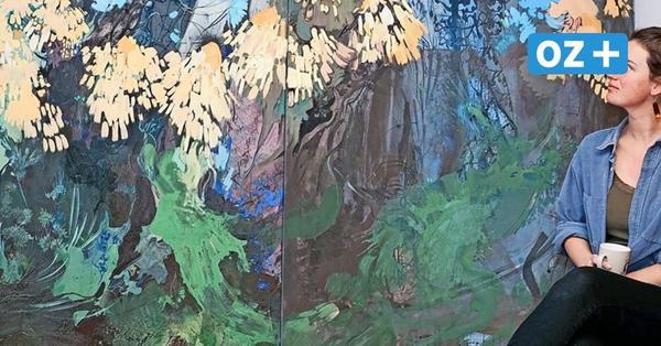 Malerei in XXL: Künstlerin Karen Clasen aus Wismar liebt große Flächen