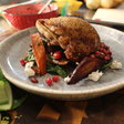 Crispy Pan Roasted Duck Breast with Warm Carrot and Pomegranate Salad: Food Network's 'Chopped' Champion Chef Brooke Siem