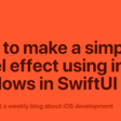 How To Make A Simple Bevel Effect Using Inner Shadows In SwiftUI