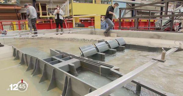 Une grande maquette pour tester le projet de barrage dans le Chablais