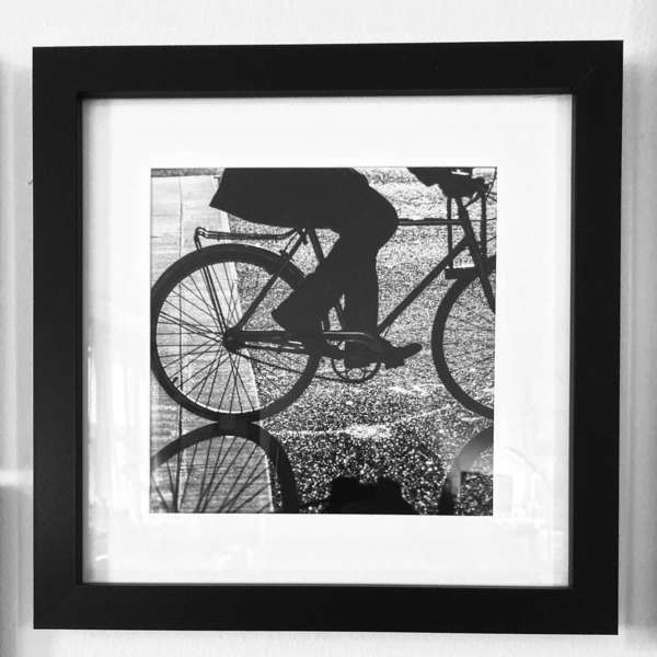Wheels in Motion (framed), New York City, April 2014. I haven't quite gotten the hang of photographing a photo!