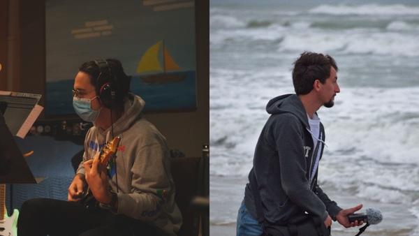 Robert Hunter (left) and Donovan Jonk (right), audio production duo Megahammer Studios