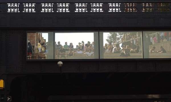 High Line Bleachers, New York City, August 2010.