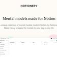 Mental models made for Notion