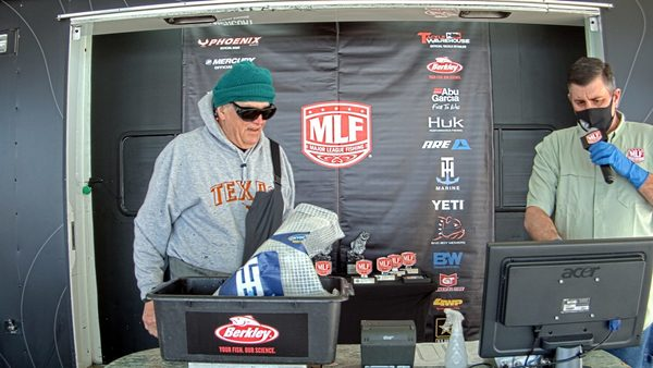 Pete Lammons (left), a co-angler on the Major League Fishing circuit, died in a freak accident during a tournament April 29. (photo by Major League Fishing).