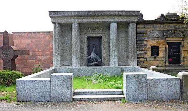 Das Grabmal des Leipziger Kurzwarenfabrikanten Heinrich Schaub.Foto: André Kempner