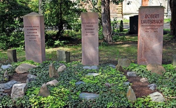 Die Geologen-Gräber von von Kossmat, Lauterbach und Credner.Foto: André Kempner
