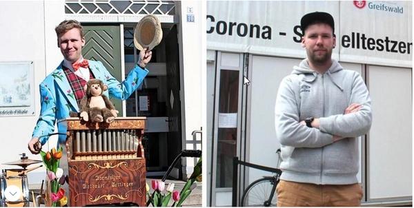 Greifswald: Zirkusclown arbeitet jetzt im Corona-Testzentrum