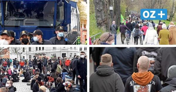 Alle Bilder zur NPD-Demo und den Gegenprotesten in Greifswald am 1. Mai