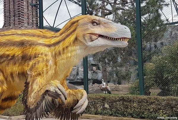 Neben den bekannten Bewohnern begegnen den Besuchern ab Montag auch Dinos im Leipziger Zoo. Foto: Zoo Leipzig