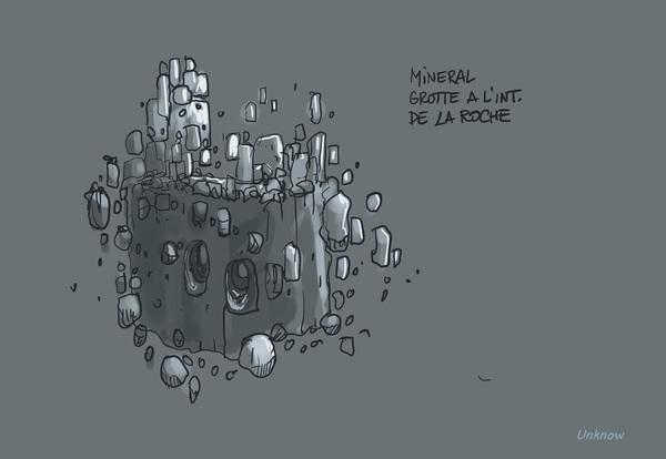 Animation d'un colosse réveillé par Titi. Artwork d'Unknown par Jean-Baptiste Cuvelier (Mando 2017)