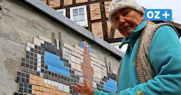 Kreative Farbtupfer: Rentnerin sorgt für Blickfang in Wolgaster Innenstadt