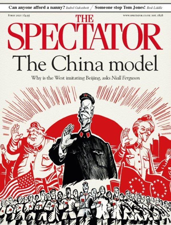 "Une du ""Spectator"" par Morten Morland (8 mai)."