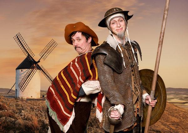 """Andreas Erfurth (l.) und Laurenz Wiegand in """"Don Quijote"""" des Neuen Globe Theaters. Foto: Philipp Plum"""