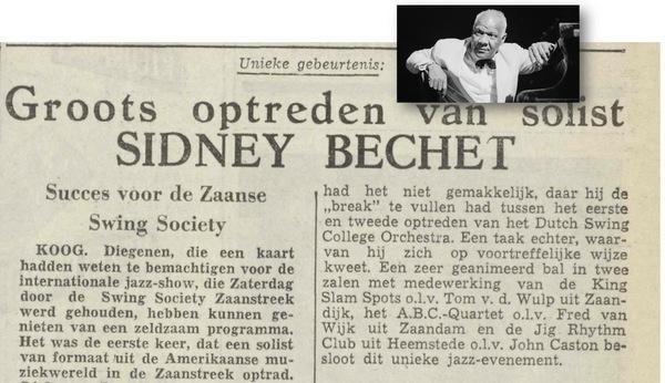 Sidney Bechet slaapt op het Konijnenpad | De Orkaan