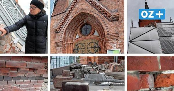 Darum ist die Zinnowitzer Kirche wieder eingerüstet und verhüllt