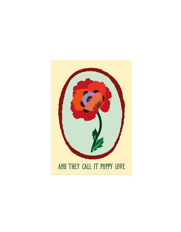 Poppy Love Kaart