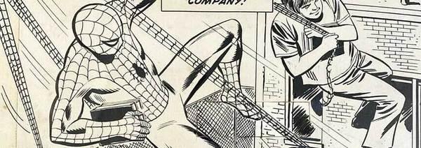 Win Mortimer - Spider-Man Back Cover Original Art