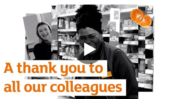 A thank you to all our colleagues | Sainsbury's | Thank You