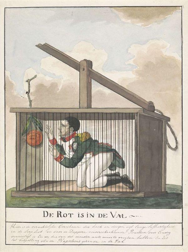 Caricature anonyme flamande de Napoléon pris au piège anglais.