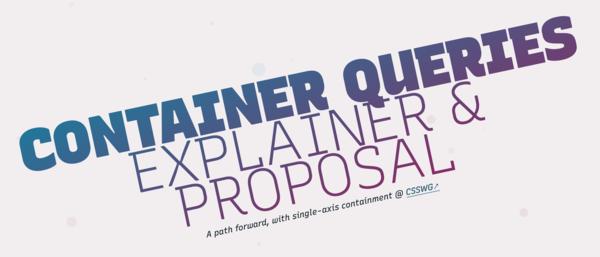 Container Queries Explainer & Proposal