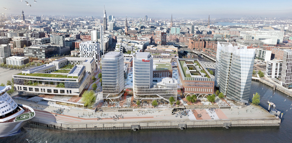 Le projet controversé de centre commercial «Überseequartier» (Unibail)