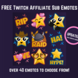 Fatsack's Freebies 02 - FREE Twitch Affiliate Sub Emotes | Fatsack Fails